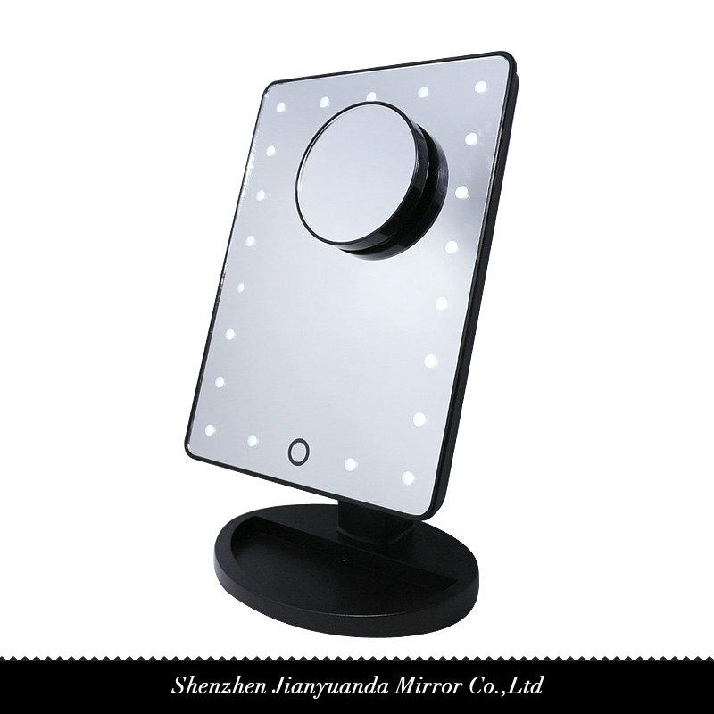 single side desktop led vanity mirror table mirror shen zhen jian yuan da mirror co ltd. Black Bedroom Furniture Sets. Home Design Ideas