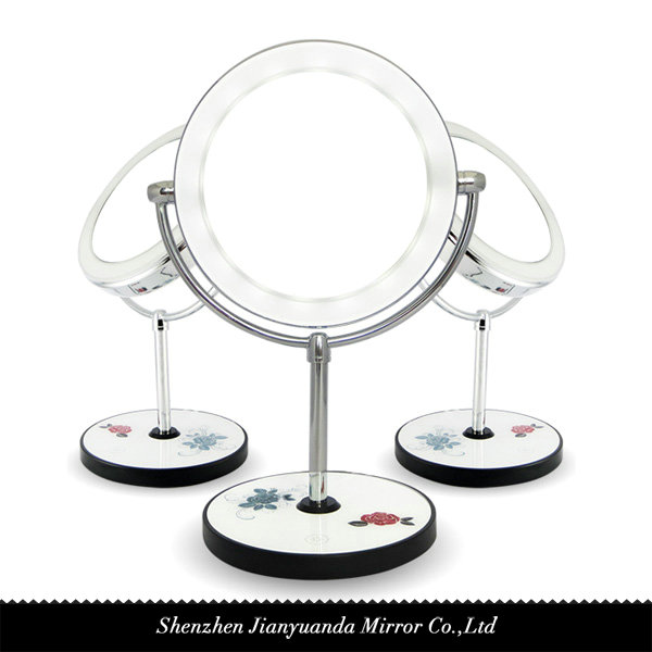Dual Sided Swivel Led Vanity Mirror With 1x 10x Magnification