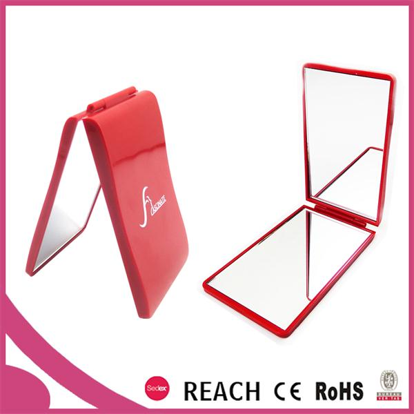 double side folding square pocket mirror