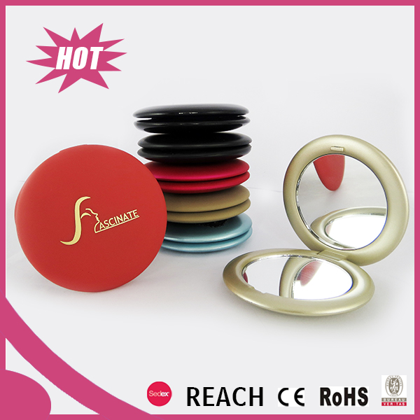 small round double side foldable pocket mirror