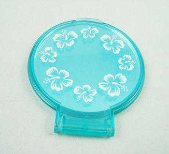 single side foldable round pocket mirror
