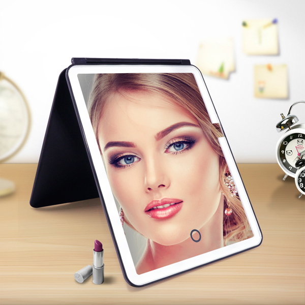 One side rectangle shape led lighting makeup mirror