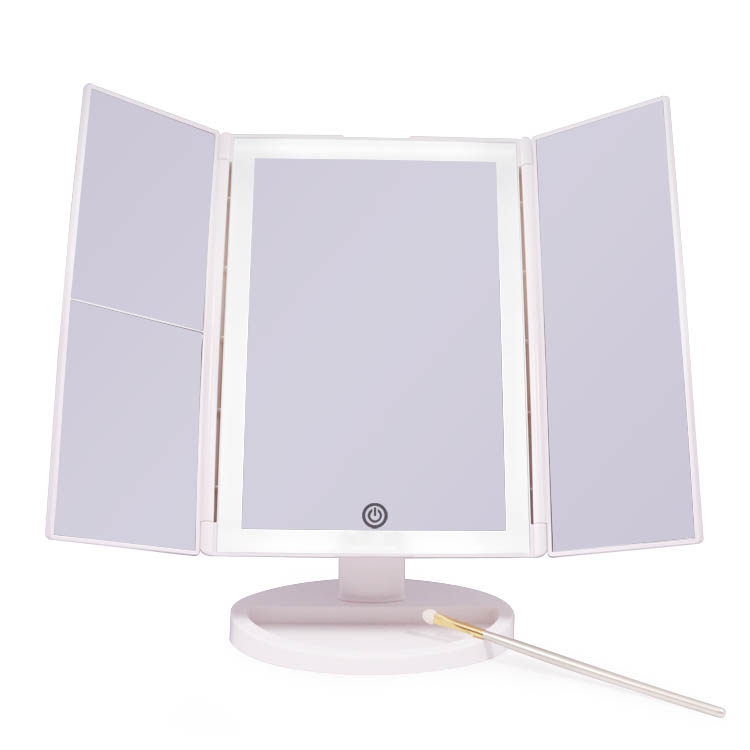 Uniform lighting 3 ways rectangle 180 degree rotate makeup mirror