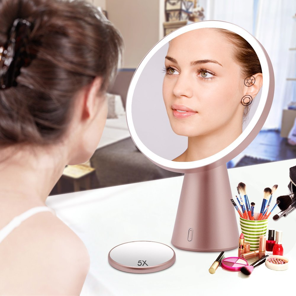Multi-media Musical Smart LED Bluetooth Makeup Mirror With Night Lamp