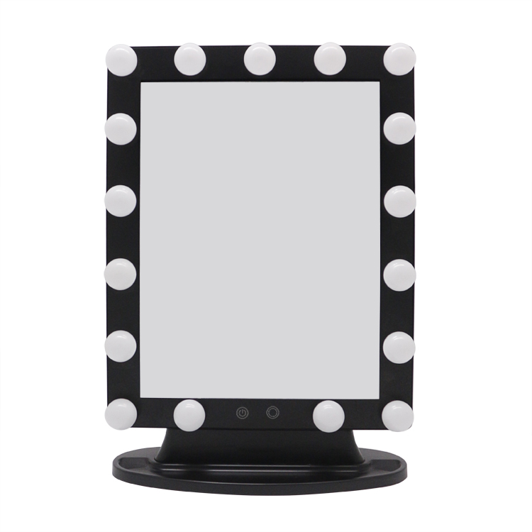 Touch screen switch hollywood led makeup mirror with light bulbs