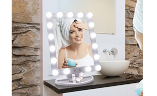 LED Hollywood Cosmetic Mirror with LED Dimmable Bulbs