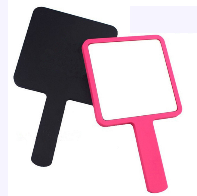 Square shape one side hand held mirror