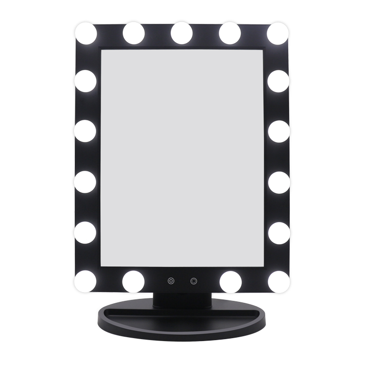 Touch sensor switch led hollywood mirror