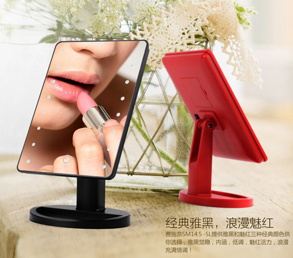 One side normal makeup mirror with led light