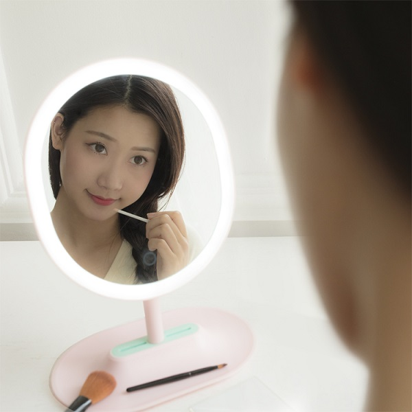 One side touch sensor led beauty mirror